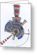 Abstract Construction Power Plant Greeting Card