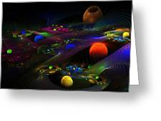 Abstract Psychedelic Fractal Art Greeting Card