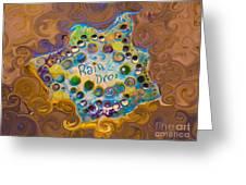 Abstract Rain Drop Greeting Card