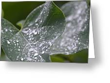 Abstract Rain Glitter Greeting Card