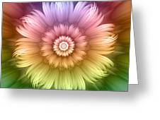 Abstract Rainbow Flower Greeting Card