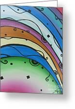 Abstract Rainbow Greeting Card by Juan Molina