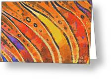 Abstract Rainbow Tiger Stripes Greeting Card by Pixel Chimp