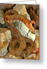 Abstract Rattlesnake Greeting Card
