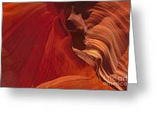 Abstract Red Sandstone Formations Lower Antelope Slot Greeting Card