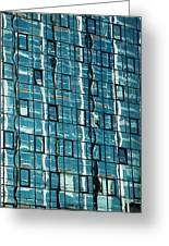 Abstract Reflections In Windows Greeting Card