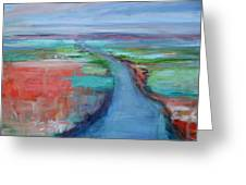 Abstract River Greeting Card