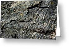 Abstract Rock View Greeting Card