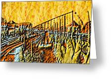 Abstract Roller Coaster Greeting Card