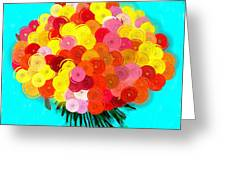 Abstract Roses Greeting Card