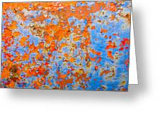 Abstract - Rust And Metal Series Greeting Card