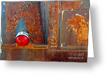 Abstract Rust Greeting Card