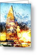 Abstract Sailing Greeting Card