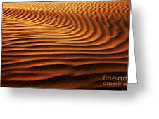 Abstract Sand Pattern  Greeting Card