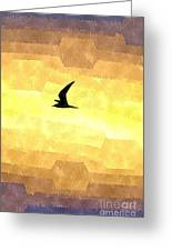 Abstract Seagull Flight Greeting Card