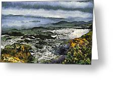 Abstract Seascape Morro Bay California Greeting Card