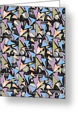 Abstract Shapes Collage Greeting Card
