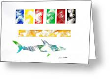 Abstract Shark Greeting Card
