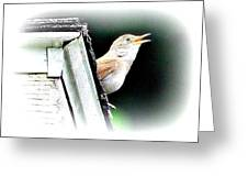 Abstract Songbird Greeting Card