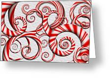 Abstract - Spirals - Peppermint Dreams Greeting Card
