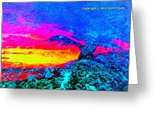 Abstract Sunset As A Painting Greeting Card