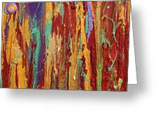 Abstract Sunset Over Tuscany  Greeting Card