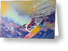 Abstract Surf Greeting Card