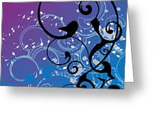 Abstract Swirl Greeting Card by Mellisa Ward