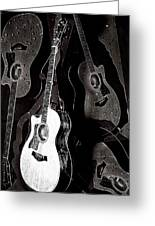 Abstract Taylor Guitars Greeting Card