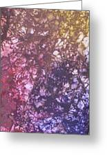 Abstract Tetraptych 3 Of 4 Greeting Card