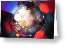 Abstract Town  Greeting Card