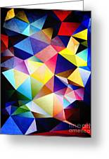 Abstract Triangles And Texture Greeting Card