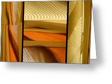Abstract Triptych - Omaha Library Building Greeting Card