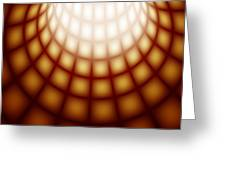 Abstract Tunnel Line Technology Background Greeting Card