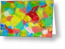 Abstract  Twenty  Of  Twenty  One Greeting Card