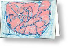 Abstract Us Greeting Card