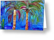 Abstract Venice Palms Greeting Card