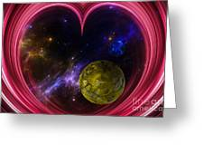 Abstract View Of The Universe Greeting Card