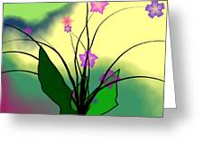 Abstract Violets Greeting Card
