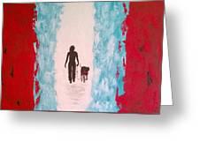 Abstract Walk Greeting Card