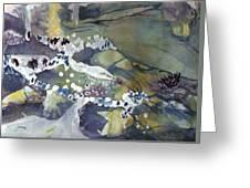 Abstract Waterfall Greeting Card