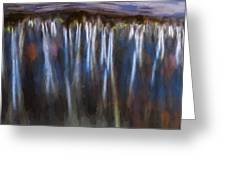 Abstract Waterfalls Childs National Park Painted  Greeting Card