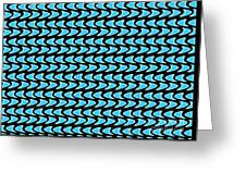 Abstract Waves On A Black Background Greeting Card