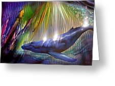 Abstract Whale Greeting Card