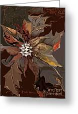 Abstract Whispering Leaves Greeting Card