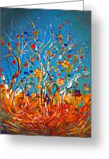 Abstract Wildflowers Greeting Card