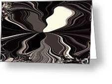 Abstract Wings In Black Greeting Card