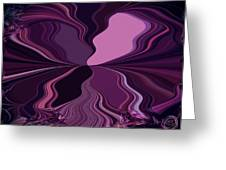 Abstract Wings In Plum Greeting Card