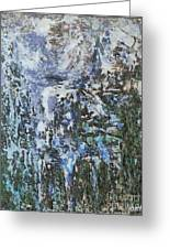 Abstract Winter Landscape Greeting Card