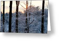 Abstract Winter Sunset Greeting Card
